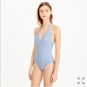 J. CREW Seersucker Swim Suit XS